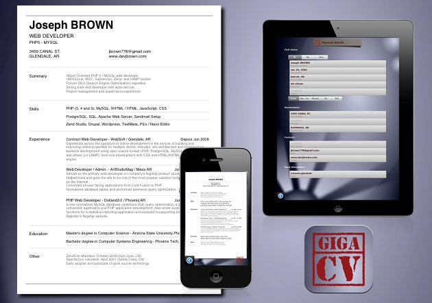 how to make your resume cv with your iphone ipad or android